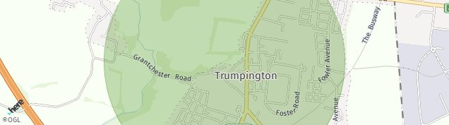 Map of Trumpington