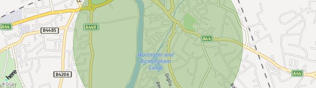 Map of Worcester