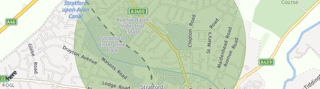 Map of Stratford-upon-Avon