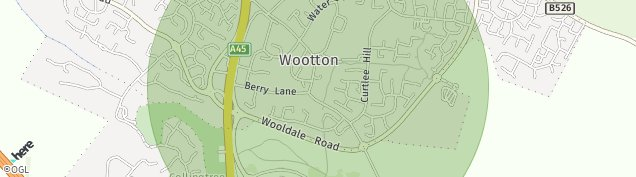 Map of Wootton