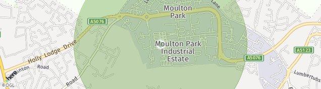 Map of Moulton Park Industrial Estate
