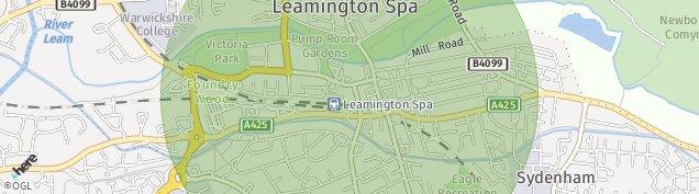 Map of Leamington Spa