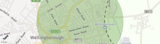 Map of Wellingborough