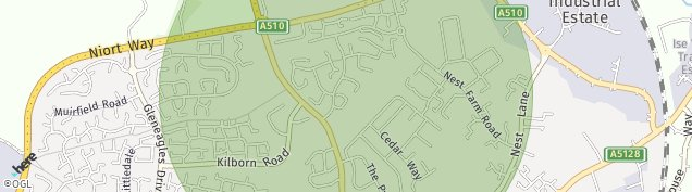 Map of Wellingborough