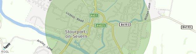 Map of Stourport-on-Severn