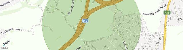 Map of Bromsgrove