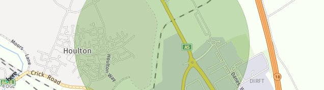 Map of Daventry Rail Freight Terminal