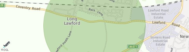 Map of Long Lawford