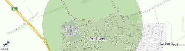 Map of Rothwell