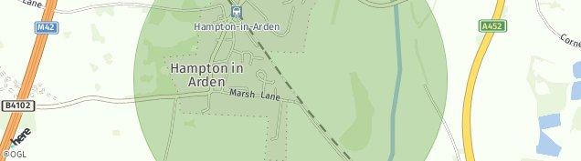 Map of Hampton-in-Arden