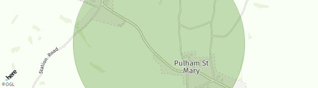Map of Pulham St. Mary