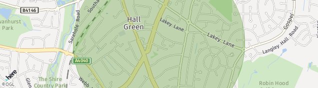 Map of Hall Green