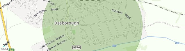 Map of Desborough