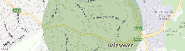 Map of Halesowen