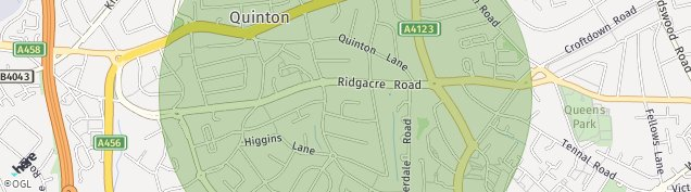 Map of Quinton