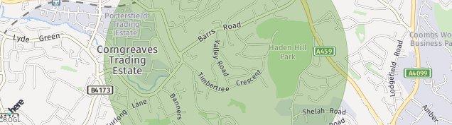 Map of Cradley Heath