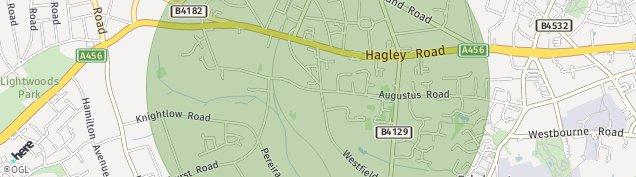 Map of Harborne