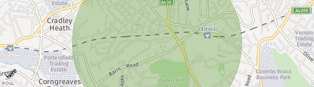 Map of Cradley Heath