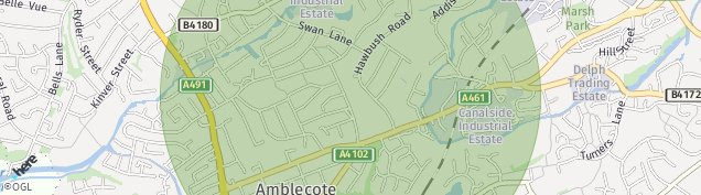 Map of Stourbridge