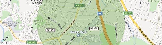Map of Rowley Regis