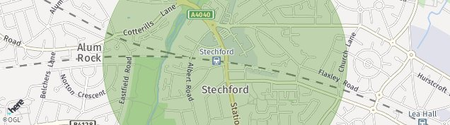 Map of Stechford