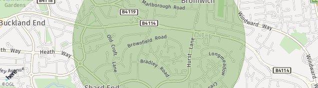 Map of Castle Bromwich