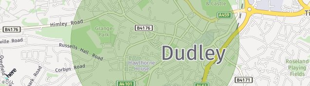 Map of Dudley