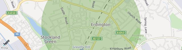 Map of Erdington