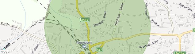 Map of Nuneaton