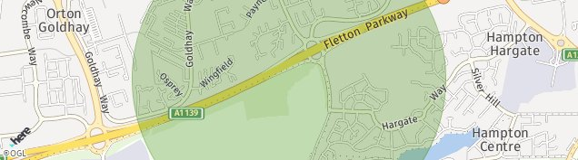 Map of Orton Goldhay