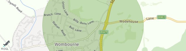 Map of Wombourne