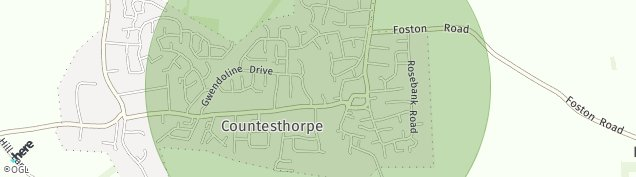 Map of Countesthorpe