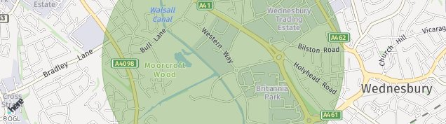 Map of Wednesbury