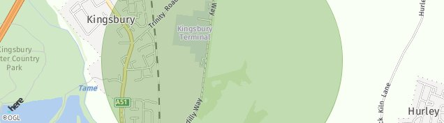 Map of Kingsbury