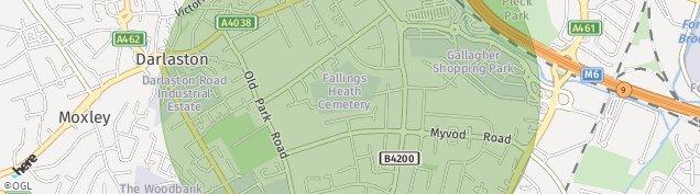 Map of Wednesbury