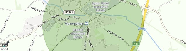 Map of Wymondham