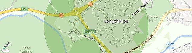 Map of Longthorpe
