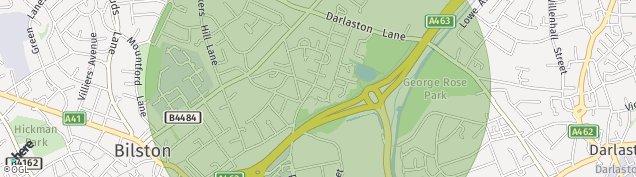 Map of Bilston