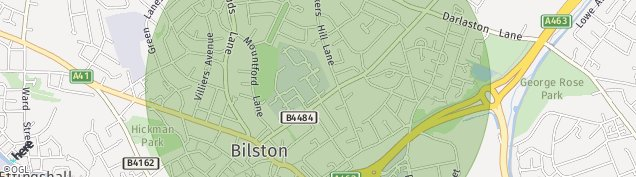 Map of Bilston