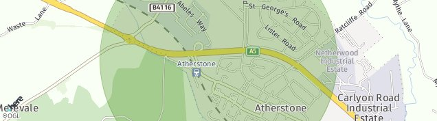 Map of Atherstone