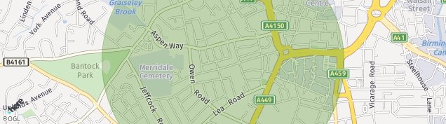 Map of Wolverhampton