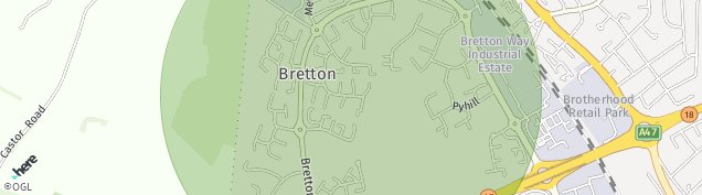 Map of Bretton