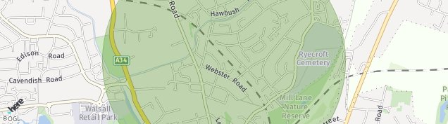 Map of Walsall
