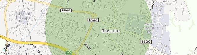 Map of Tamworth