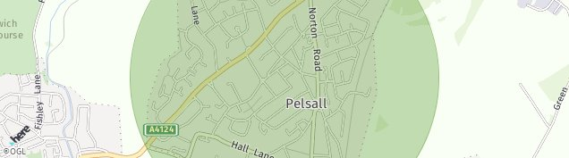 Map of Pelsall