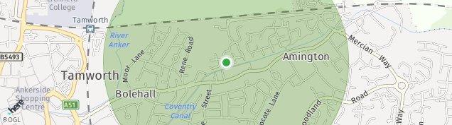 Map of Amington