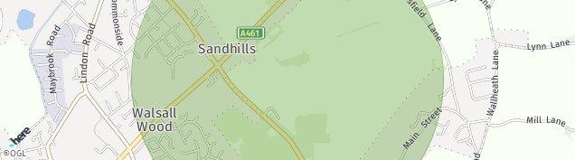 Map of Brownhills