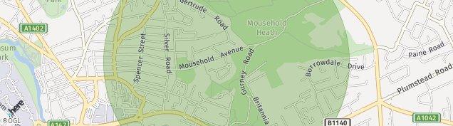 Map of Norwich