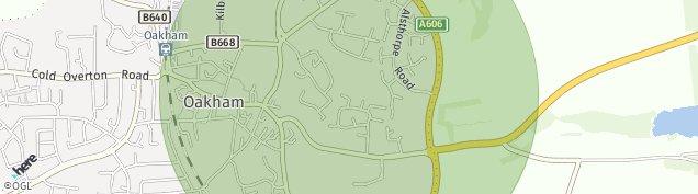 Map of Oakham
