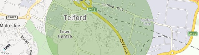 Map of Telford